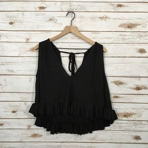 NWT Free People No Excuses Ribbed Top - Black - L